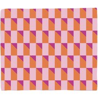 Colourful 3D Shape Fleece Blanket - S