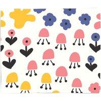 Retro Meadow Fleece Blanket - S