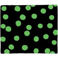 Large Polka Dots Fleece Blanket - S