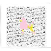 Polka Dot Poodle Fleece Blanket - M