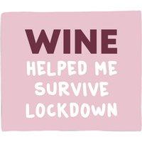 Wine Helped Me Survive Fleece Blanket - S