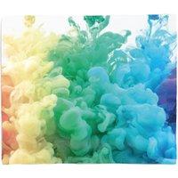 Rainbow Smoke Fleece Blanket - S