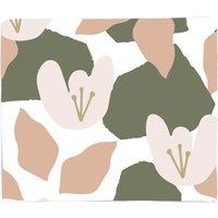 Pond Flowers Fleece Blanket - M