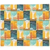 Travel The Americas Fleece Blanket - S