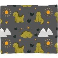 Green Dino Fleece Blanket - M