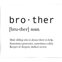 Brother Definition Fleece Blanket - S