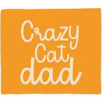 Crazy Cat Dad Fleece Blanket - M