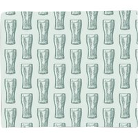 Beer Glass Pattern Bed Throw