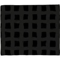Inky Grid Bed Throw