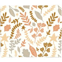 Mixed Leaves Bed Throw