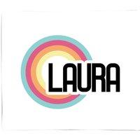 Laura Rainbow Bed Throw