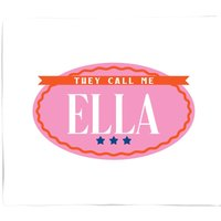 They Call Me Ella Bed Throw