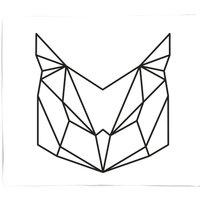 Geometric Owl Bed Throw