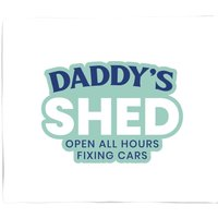 Daddy's Shed Bed Throw