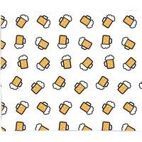 Beer Pattern Bed Throw