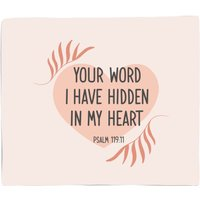 Your Word I Have Hidden In My Heart Bed Throw