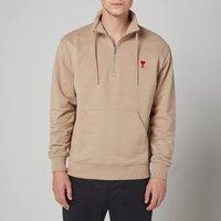 AMI Men's De Coeur Quarter Zip Sweatshirt - Beige - M