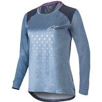 Alpinestars Women's Stella Alps 6.0 Long Sleeve MTB Jersey - L - Mid-blue