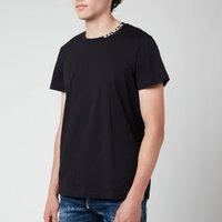 Balmain Men's Printed Collar T-Shirt - Black/White - M