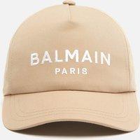 Balmain Men's Cotton Twill Cap - Beige