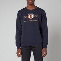 GANT Mens Archive Shield Crewneck Sweatshirt - Evening Blue - M