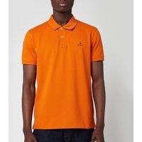GANT Mens Contrast Collar Pique Rugger Polo Shirt - Savannah Orange - XXL