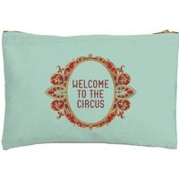 Welcome To The Circus Emblem Zipped Pouch