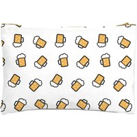 Beer Pattern Zipped Pouch