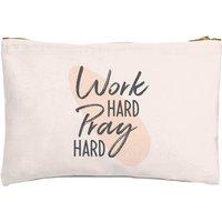 Work Hard Pray Hard Zipped Pouch