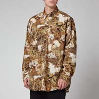 KENZO Men's Printed Shirt - Dark Camel - M