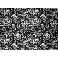Monochrome Floral Paisley Woven Rug - Large
