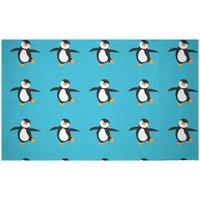 Dancing Penguin Woven Rug - Small