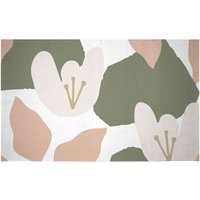 Pond Flowers Woven Rug - Small