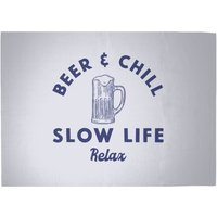 Beer And Chill Woven Rug - Large