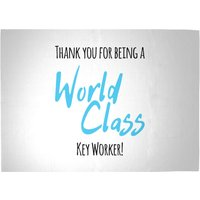 Thank You For Being A World Class Key Worker! Woven Rug - Large