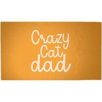 Crazy Cat Dad Woven Rug - Medium