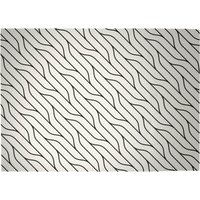 Diagonal Warped Lines Woven Rug - Large