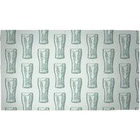 Beer Glass Pattern Woven Rug - Medium