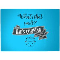 What's That Smell? Dad's Cooking Woven Rug - Large