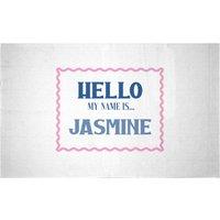 Hello My Name Is Jasmine Woven Rug - Small