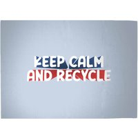 Keep Calm And Recycle Woven Rug - Large