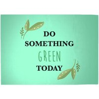 Do Something Green Today Woven Rug - Large