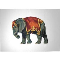 Circus Elephant Woven Rug - Large