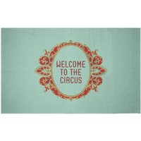 Welcome To The Circus Emblem Woven Rug - Small