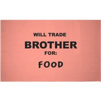 Will Trade Brother For Food Woven Rug - Small