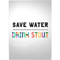 Save Water, Drink Stout Woven Rug - Large