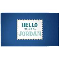 Hello, My Name Is Jordan Woven Rug - Medium
