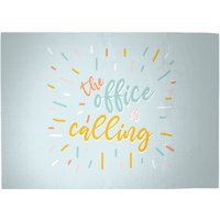 The Office Is Calling Woven Rug - Large