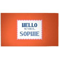 Hello, My Name Is Sophie Woven Rug - Medium