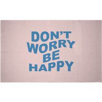 Don't Worry Be Happy Woven Rug - Small